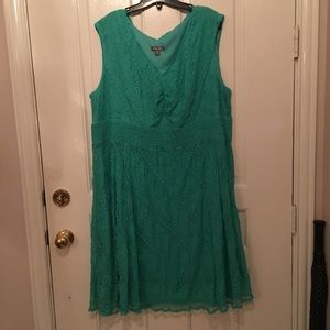 Dresses & Skirts - Plus Size Lace Dress Size 24 Sleeveless, V Neck.